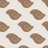 Weihnachtsvogel-Plätzchenmuster Stockfotografie