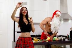 Weihnachtsvorbereiten Stockbild