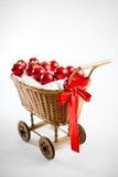 Weihnachtswagen mit Flitter Stockbild