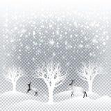 Weihnachtswald Lizenzfreie Stockbilder