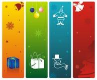 Weihnachtsweb Fahne Stockfoto