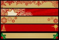 Weihnachtsweb-Fahnen Stockbilder