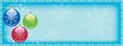 Weihnachtsweb-Vorsatz Stockfotografie