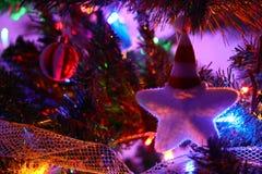 Weihnachtsweißer Stern Stockfotografie