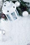 Weihnachtsweißlaterne Stockbilder