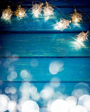 Weihnachtsweihnachten beleuchtet Rahmen-Konzept lizenzfreie stockfotografie