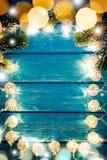 Weihnachtsweihnachten beleuchtet Rahmen-Konzept stockfotografie