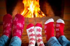 Weihnachtsweihnachtsfamilienurlaub-Winter lizenzfreies stockfoto