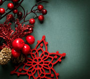 Weihnachtsweinlese-Dekoration Stockfotos