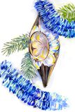 Weihnachtsweinlese-Dekorationsillustration für Postkarte lizenzfreie stockfotografie