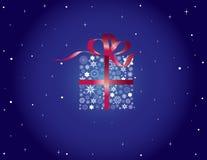 Weihnachtsweinlese-Schneeflockenrahmen Lizenzfreie Stockbilder