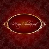 Weihnachtsweinlesegruß Stockfoto