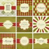 Weihnachtsweinlesehintergründe. Lizenzfreie Stockfotos