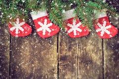 Weihnachtsweinlesehintergründe Lizenzfreie Stockfotos