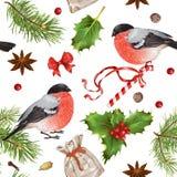 Weihnachtsweinlesemuster Lizenzfreies Stockfoto