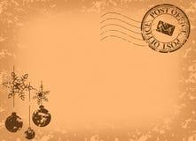 Weihnachtsweinlesepostkarte - Vektor Lizenzfreie Stockfotografie