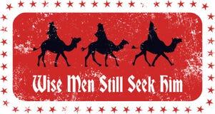 Weihnachtsweise-Stempel Stockfotos