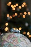 Weihnachtsweltreise-Autoreise lizenzfreies stockfoto