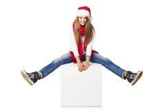Weihnachtswerbekonzeption Stockbild