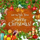 Weihnachtswinter-Grußkarte, Vektor vektor abbildung