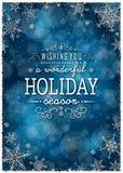 Weihnachtswinter-Rahmen - Illustration Weihnachten dunkelblau - Text-Hintergrund-Porträt Lizenzfreies Stockfoto
