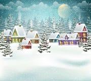 Weihnachtswinterdorf Stockfotografie