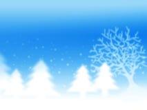 Weihnachtswinterhintergrund Lizenzfreies Stockfoto