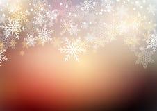 Weihnachtswinterschneeflocken Stockfoto