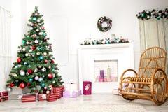 Weihnachtswohnzimmer lizenzfreies stockfoto