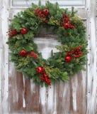 Weihnachtswreath Stockfotografie
