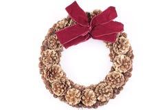 WeihnachtsWreath auf Weiß lizenzfreies stockbild