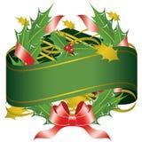 Weihnachtswreath-Fahne Stockfotos