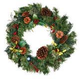 WeihnachtsWreath getrennt Lizenzfreie Stockfotografie