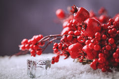 Weihnachtswreathbeeren Stockfoto