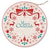 Weihnachtswreathmarke Lizenzfreies Stockbild