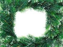 Weihnachtswreathrahmen lizenzfreies stockfoto