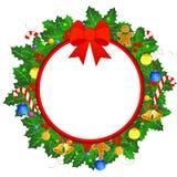 Weihnachtswreathrand lizenzfreie abbildung