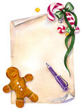 WeihnachtsWunschzettel Lizenzfreie Stockbilder
