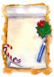 WeihnachtsWunschzettel lizenzfreies stockfoto