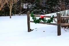 Weihnachtszaun Lizenzfreies Stockfoto
