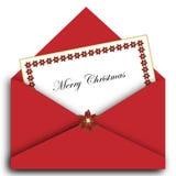 Weihnachtszeichen mit Umschlag Lizenzfreie Stockfotos