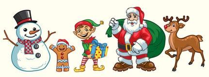 Weihnachtszeichensatz Lizenzfreies Stockbild