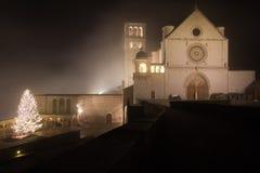 Weihnachtszeit in Assisi, Italien Lizenzfreie Stockfotografie