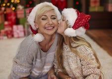 Weihnachtszeit für glückliche Familie Lizenzfreie Stockbilder