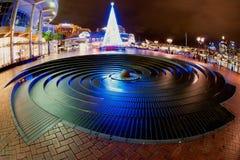 Weihnachtszeit im süßen Hafen Stockfotografie