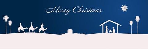Weihnachtszeit- Krippe lizenzfreies stockfoto