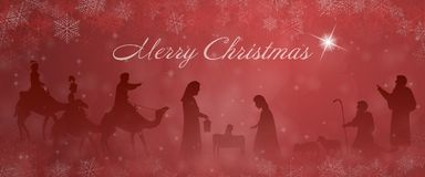 Weihnachtszeit- Krippe stockfotografie