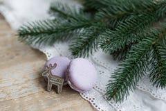 Weihnachtszeit, Makronen Stockfoto
