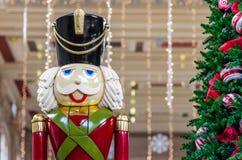 Weihnachtszeit Nussknacker stockbild
