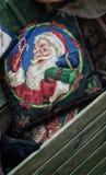 Weihnachtszeitdekorationen Weihnachtsmann Stockbild